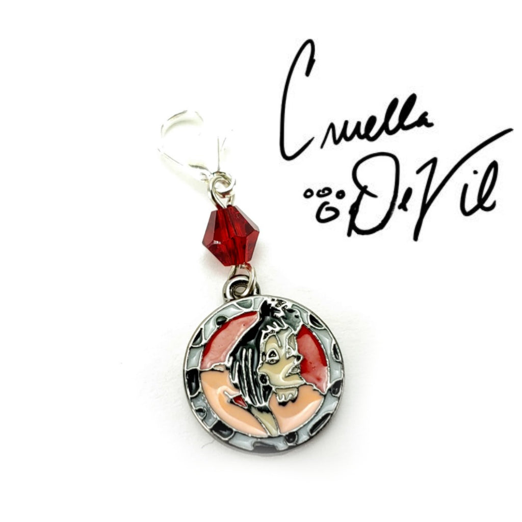 Cruella De Vil </br> Stitch Marker (Single):Stitch Markers,Slipped Stitch Studios:Slipped Stitch Studios
