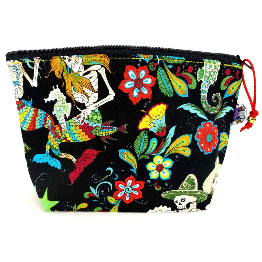 Esqueletos Del Mar </br> Zipper Notion Pouch:Zipper Notion Pouch,Slipped Stitch Studios:Slipped Stitch Studios