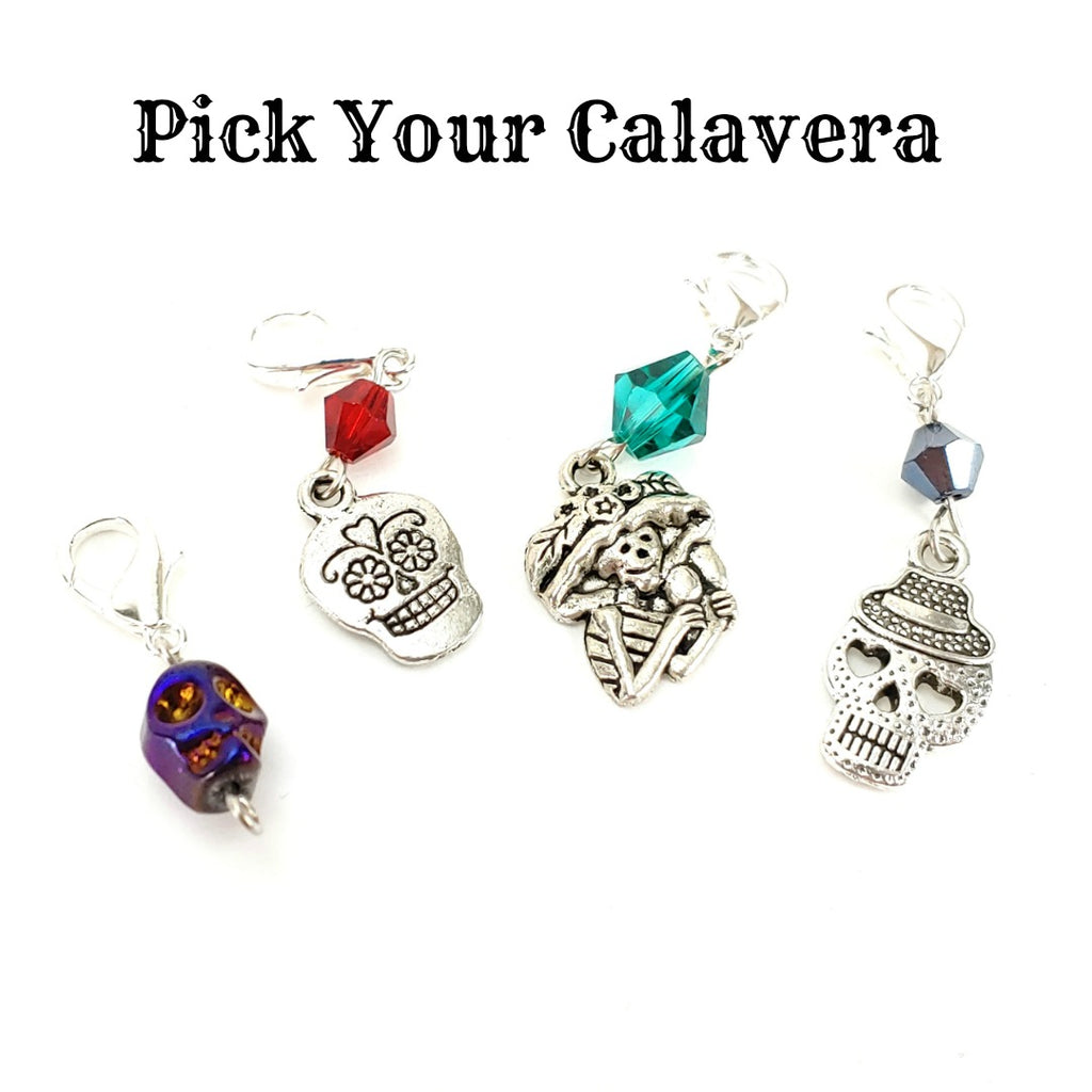 Pick Your Calavera - </br> Stitch Marker (Single):Stitch Markers,Slipped Stitch Studios:Slipped Stitch Studios