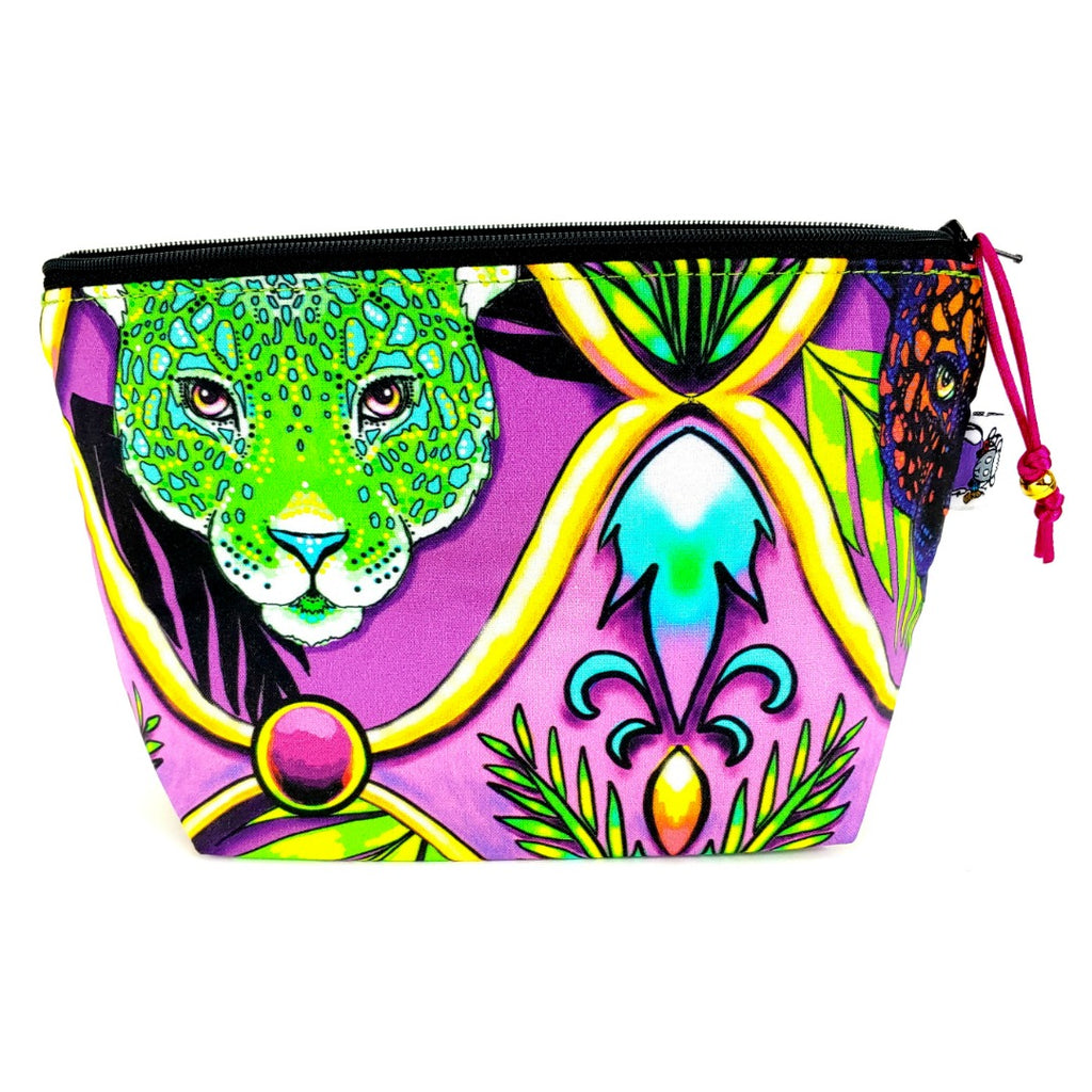 Jungle Cats </br> Zipper Notion Pouch:Zipper Notion Pouch,Slipped Stitch Studios:Slipped Stitch Studios