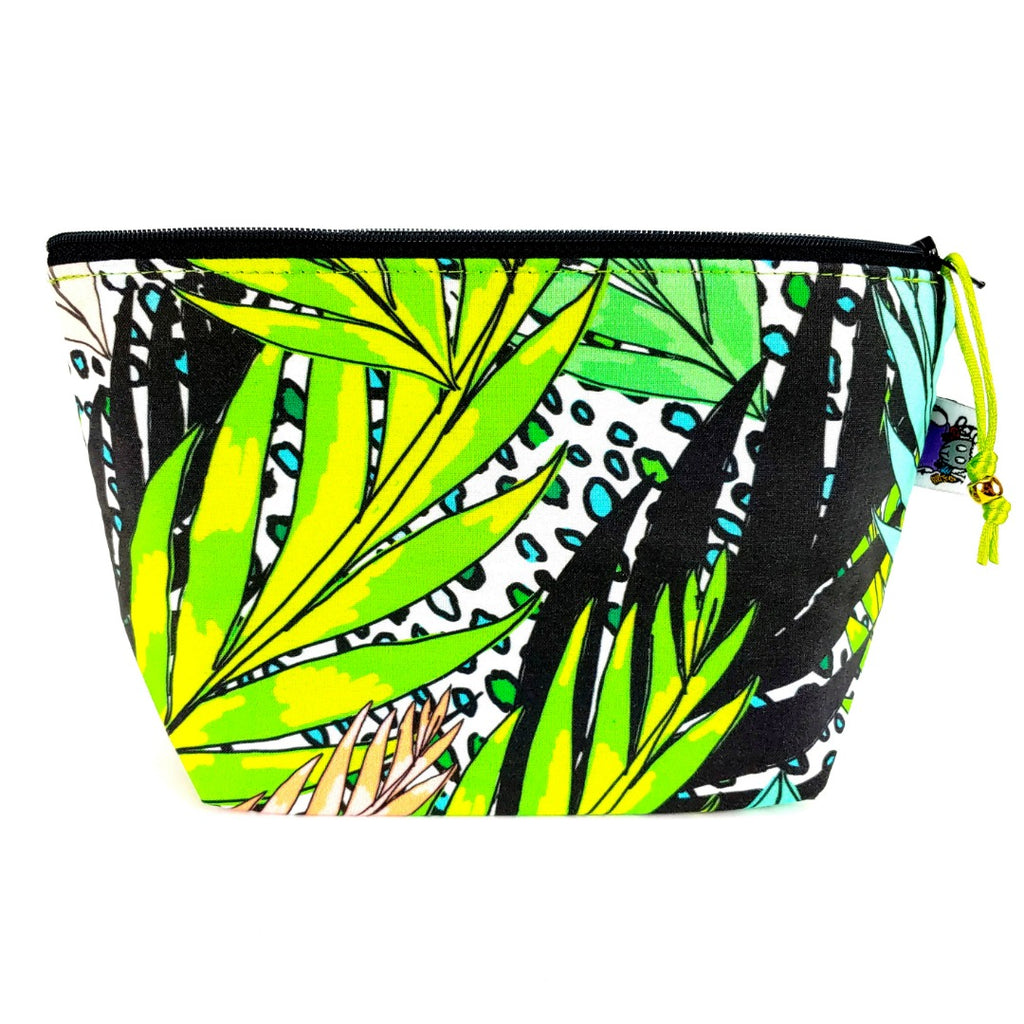 Jungle </br> Zipper Notion Pouch:Zipper Notion Pouch,Slipped Stitch Studios:Slipped Stitch Studios