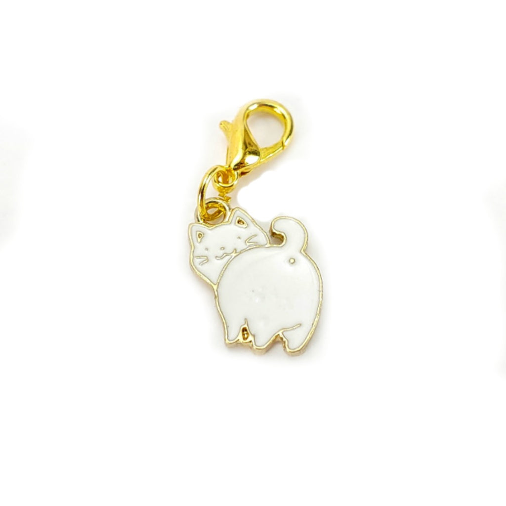 Kitty (Gold Clasp Only) </br> Stitch Marker (Single):Stitch Markers,Slipped Stitch Studios:Slipped Stitch Studios