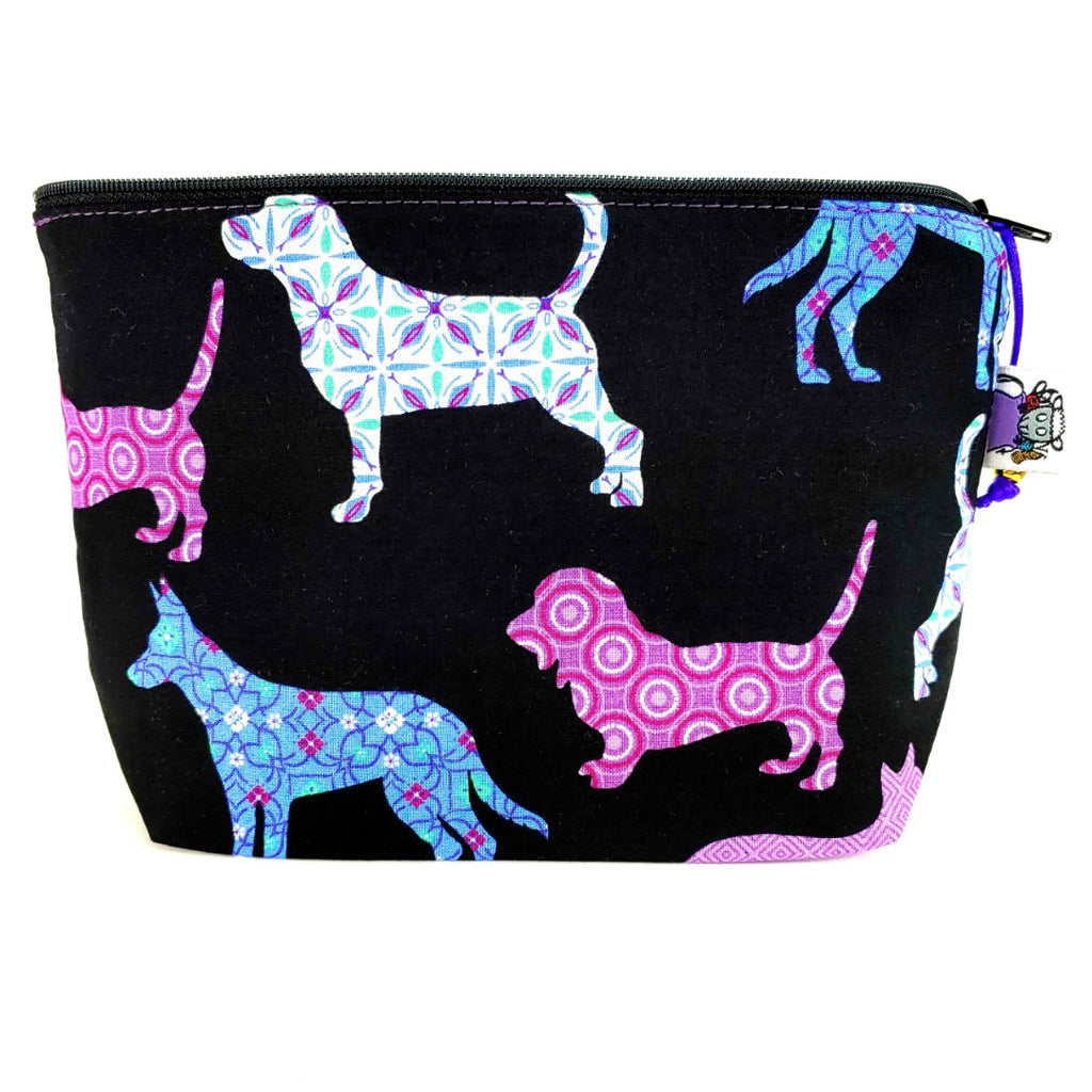 Dog </br> Zipper Notion Pouch:Zipper Notion Pouch,Slipped Stitch Studios:Slipped Stitch Studios