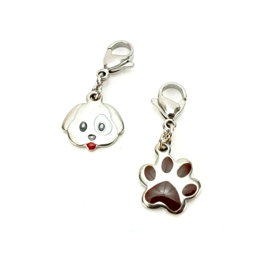 Pup & Paw </br> Stitch Marker (Set of Two):Stitch Markers,Slipped Stitch Studios:Slipped Stitch Studios