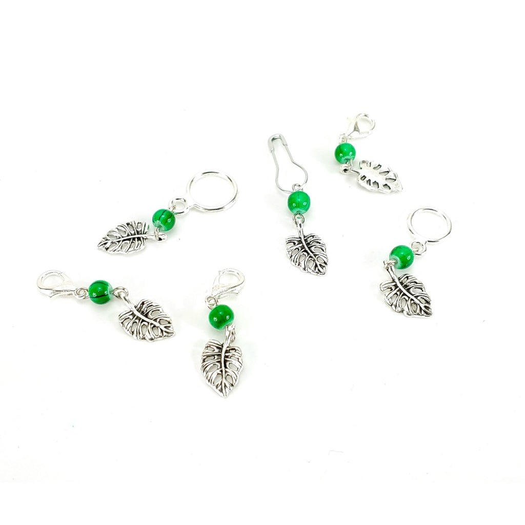 Monstera Leaf </br> Stitch Marker (Single):Stitch Markers,Slipped Stitch Studios:Slipped Stitch Studios