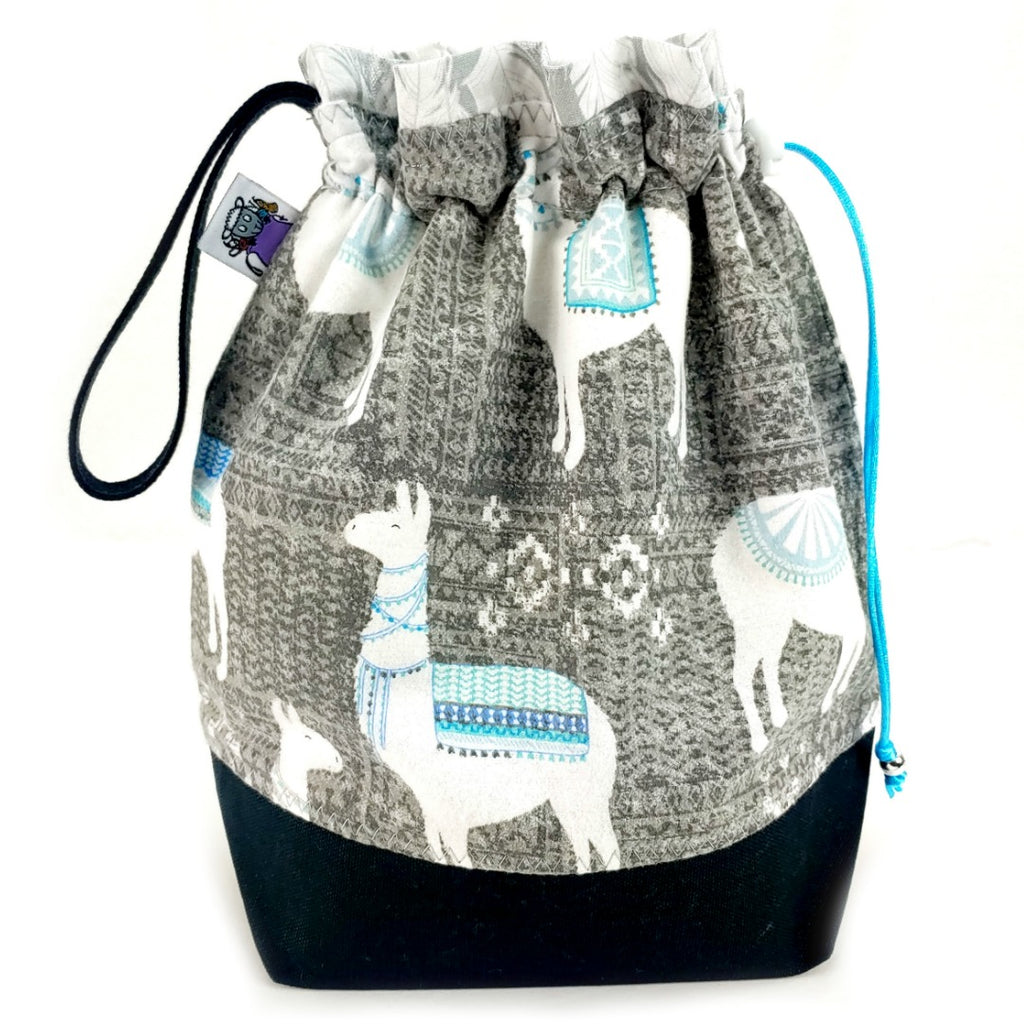 Knitting Project Bag - Medium Llama