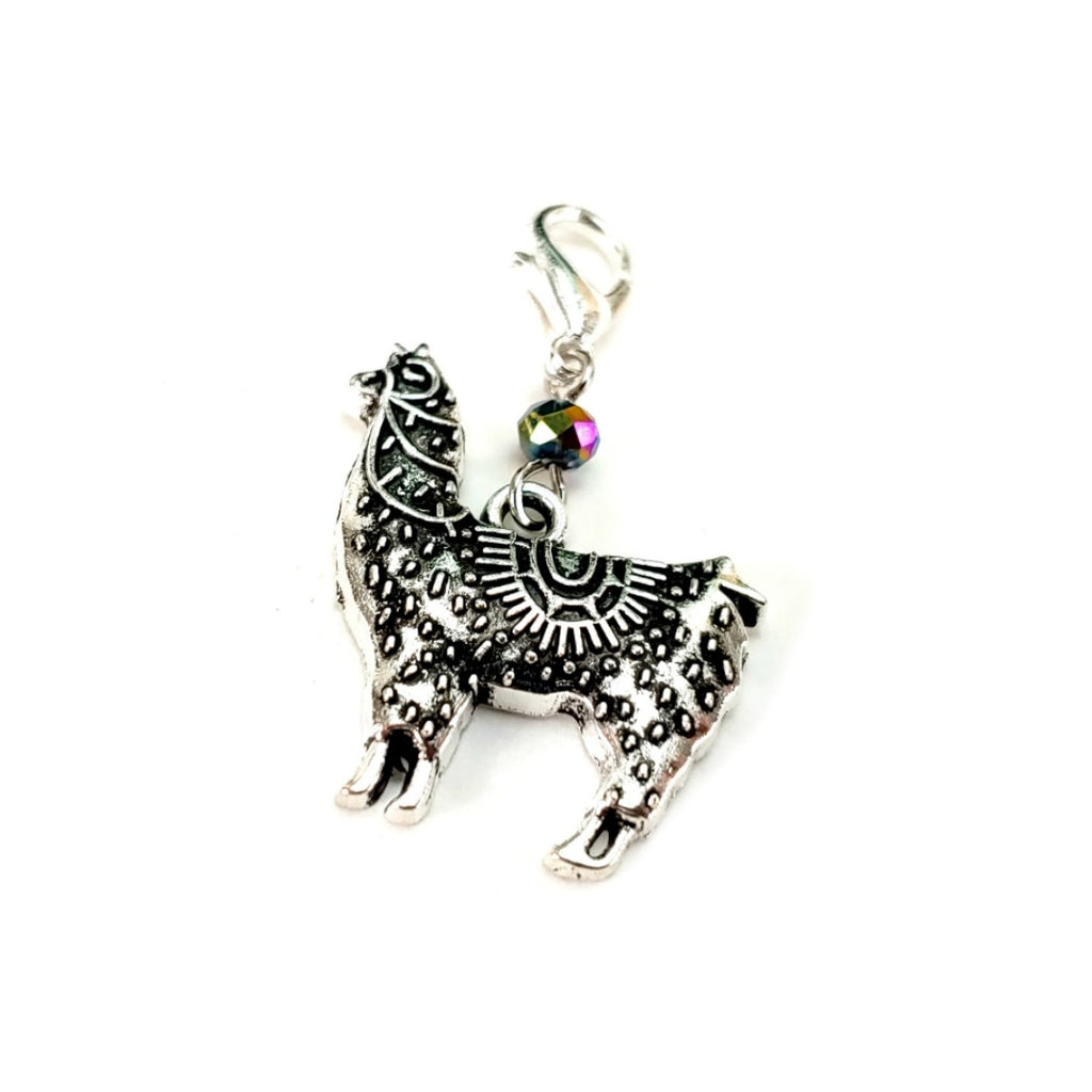 Mandala Llama </br> Stitch Marker (Single):Stitch Markers,Slipped Stitch Studios:Slipped Stitch Studios