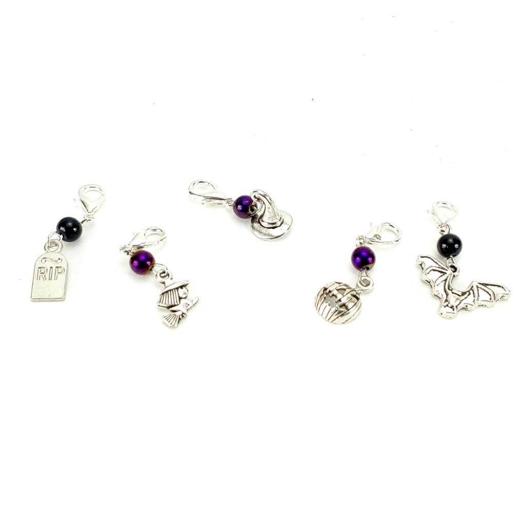 Hocus Pocus Returns </br> Stitch Markers </br> Set of 5:Stitch Markers,Slipped Stitch Studios:Slipped Stitch Studios