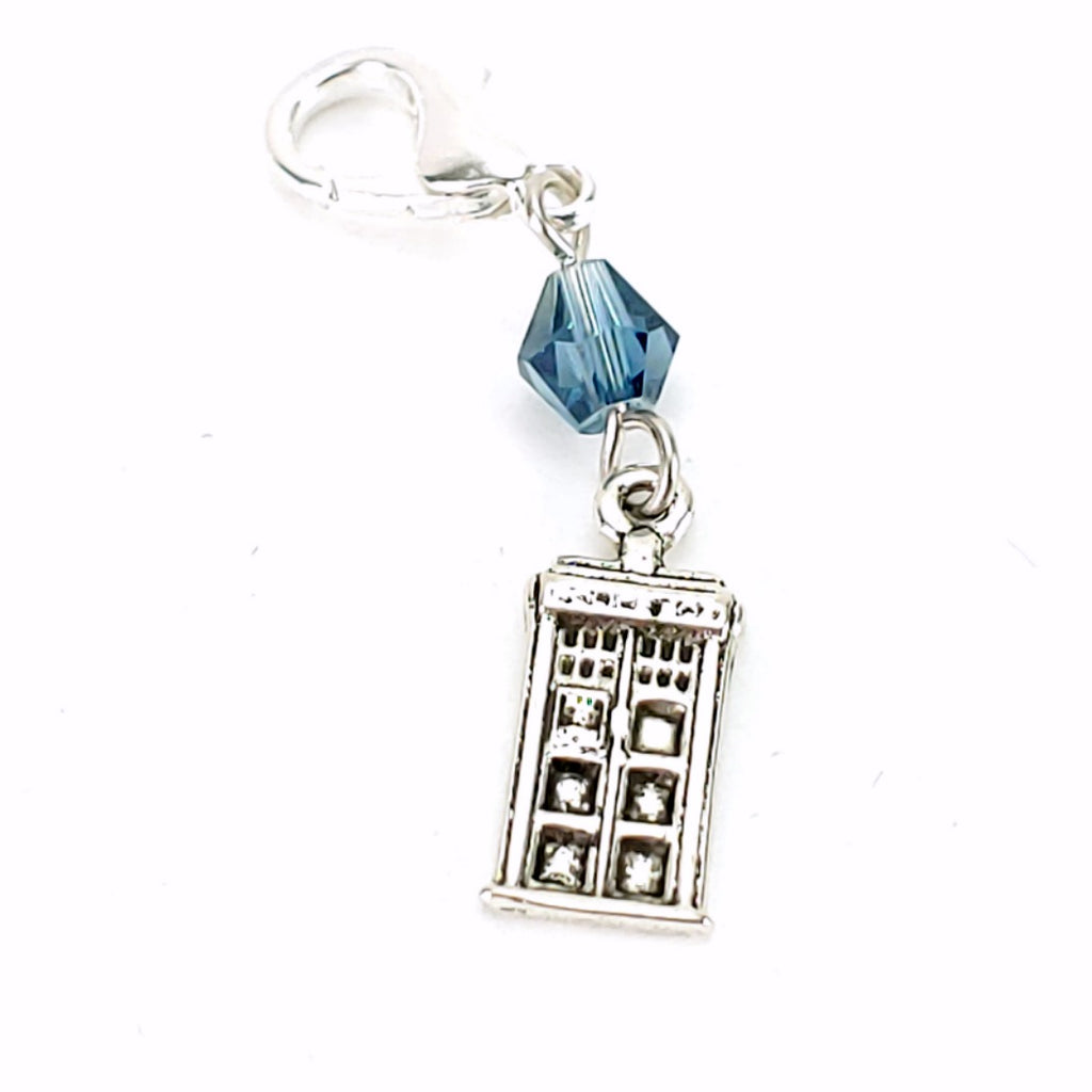TARDIS </br> Stitch Marker (Single):Stitch Markers,Slipped Stitch Studios:Slipped Stitch Studios