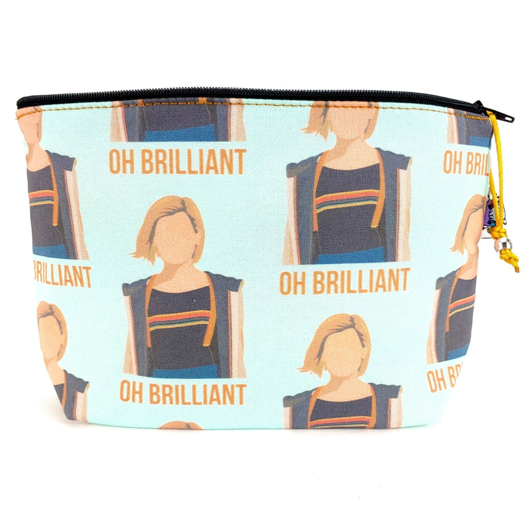 Oh Brilliant </br> Zipper Notion Pouch:Zipper Notion Pouch,Slipped Stitch Studios:Slipped Stitch Studios
