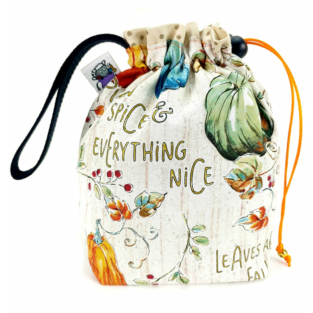 Leaves are Falling </br> Small Project Bag:Small Project Bag,Slipped Stitch Studios:Slipped Stitch Studios
