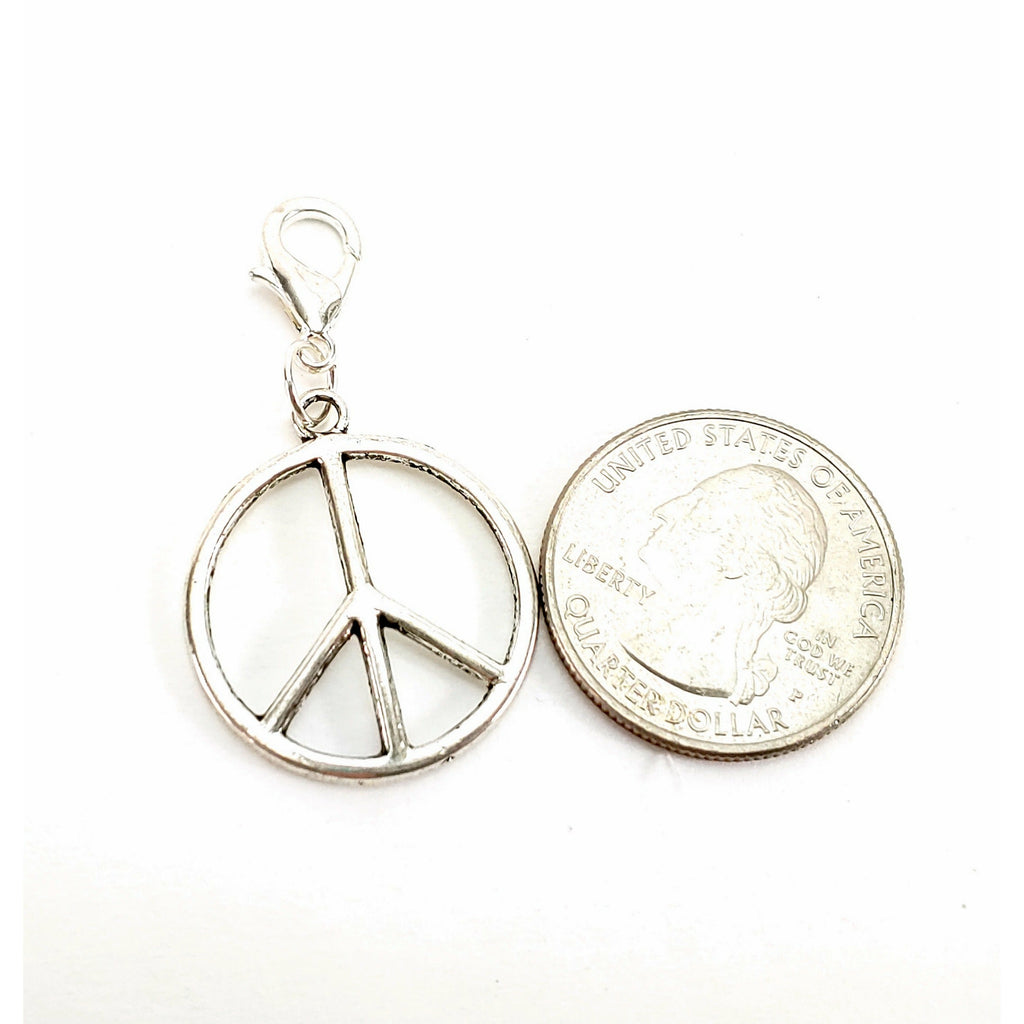 Peace </br> Stitch Marker (Single):Stitch Markers,Slipped Stitch Studios:Slipped Stitch Studios
