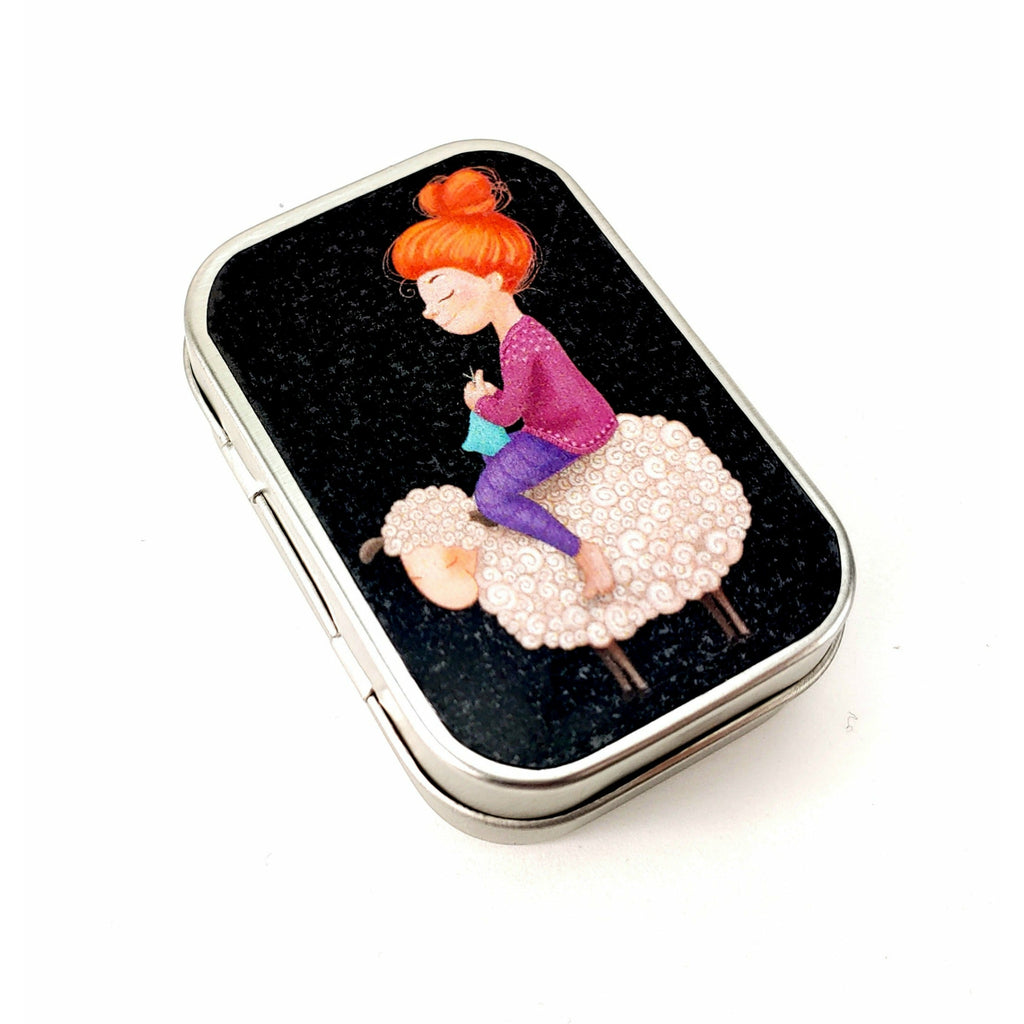 Knitters Gonna Knit </br> Tiny Tin (Empty):Tool Box,Slipped Stitch Studios:Slipped Stitch Studios