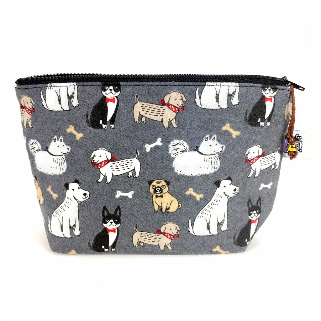 Good Dog (Flannel) </br> Zipper Notion Pouch:Zipper Notion Pouch,Slipped Stitch Studios:Slipped Stitch Studios