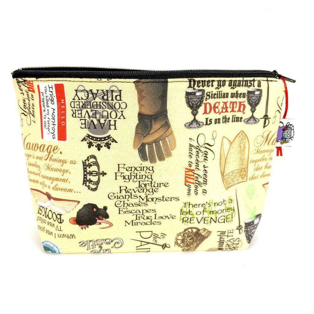 Princess Bride I </br> Zipper Notion Pouch:Zipper Notion Pouch,Slipped Stitch Studios:Slipped Stitch Studios