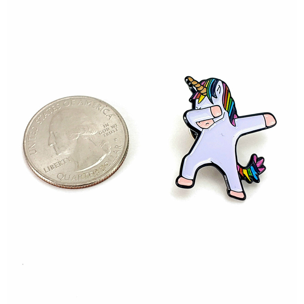 Dab-icorn </br> Enamel Pin:Pins,Slipped Stitch Studios:Slipped Stitch Studios