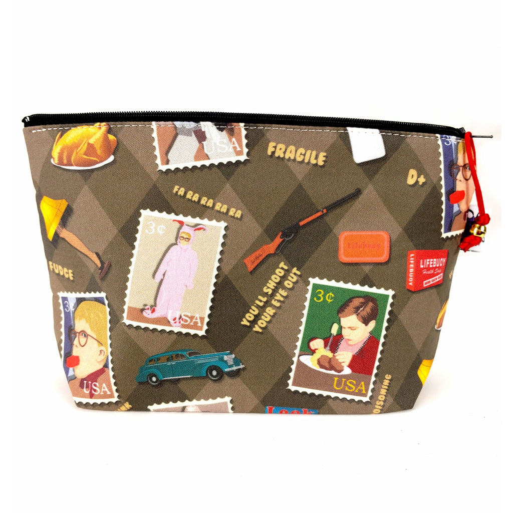 A Christmas Story </br> Zipper Notion Pouch:Zipper Notion Pouch,Slipped Stitch Studios:Slipped Stitch Studios