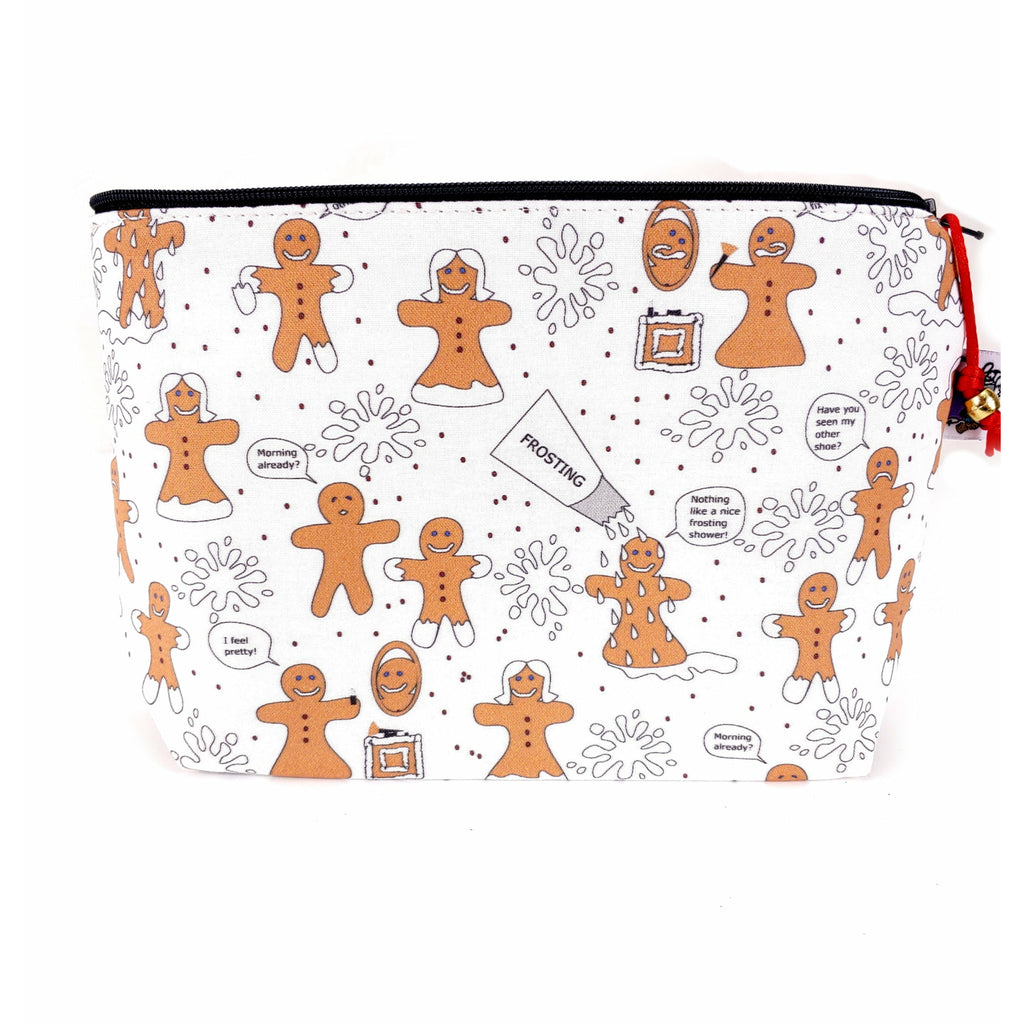 Gingerbread People </br> Zipper Notion Pouch:Zipper Notion Pouch,Slipped Stitch Studios:Slipped Stitch Studios