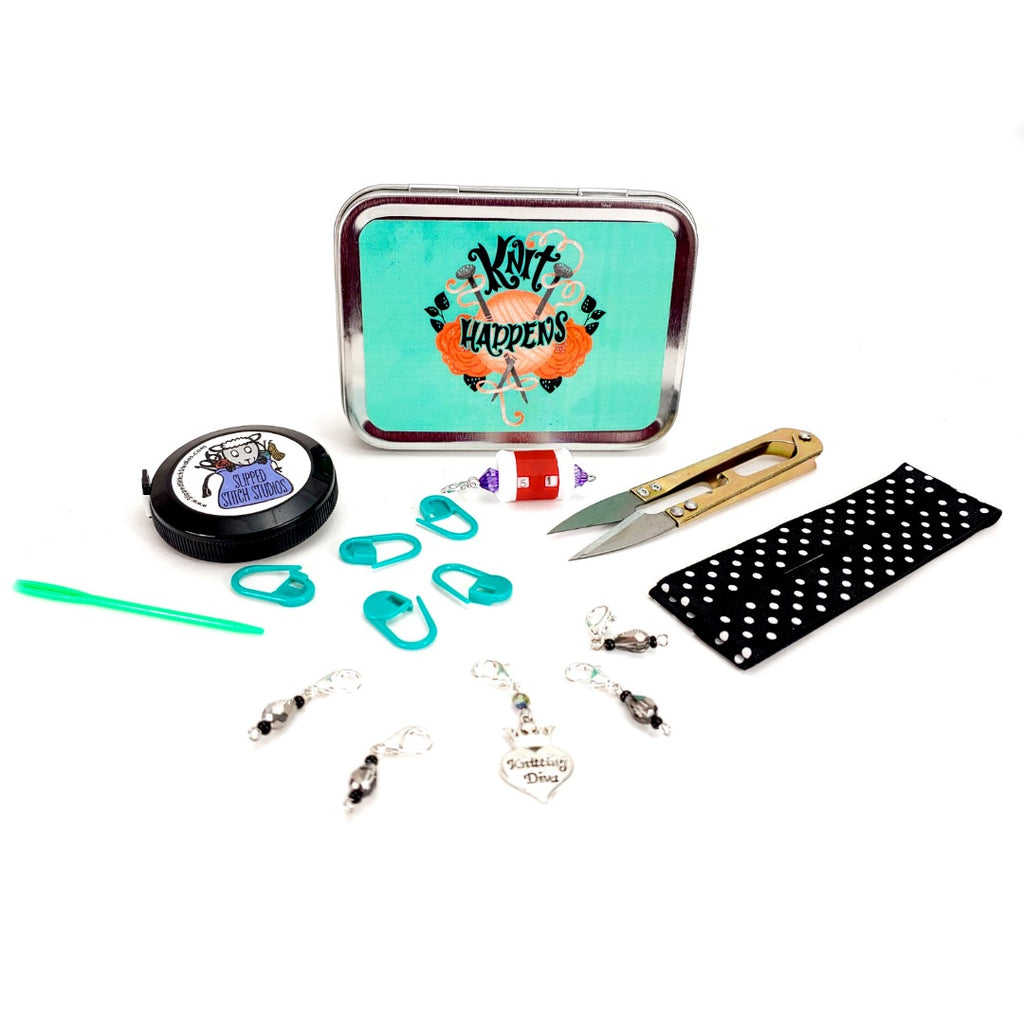 Knit Happens </br> Crafter's Tool Kit (Complete):Tool Box,Slipped Stitch Studios:Slipped Stitch Studios