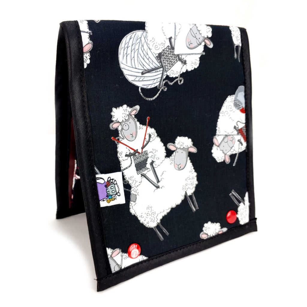 Knitting Sheep (black) </br> Needle & Hook Organizer:Needle and Hook Organization,Slipped Stitch Studios:Slipped Stitch Studios