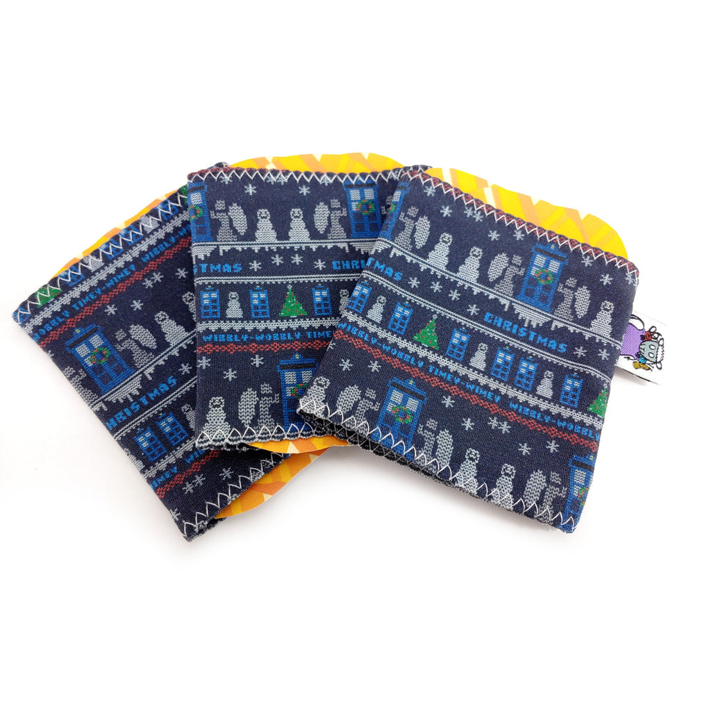 Doctor Who Christmas Knit </br> Yarn Sock </br> Set of 3:,:Slipped Stitch Studios