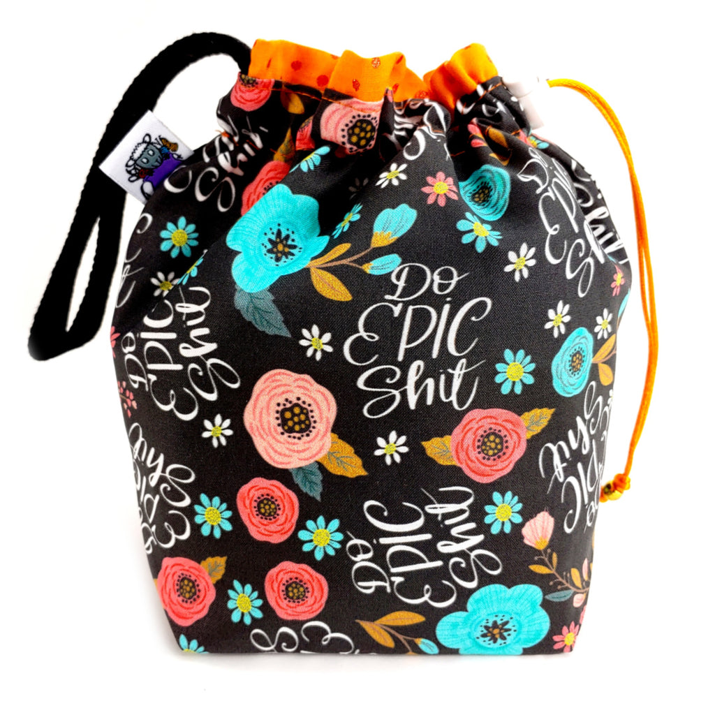 Do Epic S* </br> Small Project Bag:,:Slipped Stitch Studios