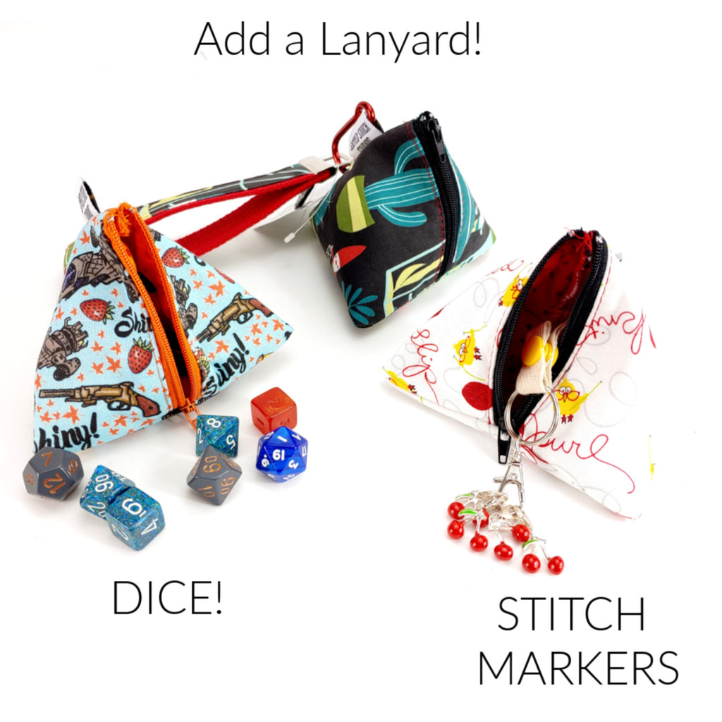 (NAME) </br> Triangle Zipper Notion Pouch:Template,Slipped Stitch Studios:Slipped Stitch Studios
