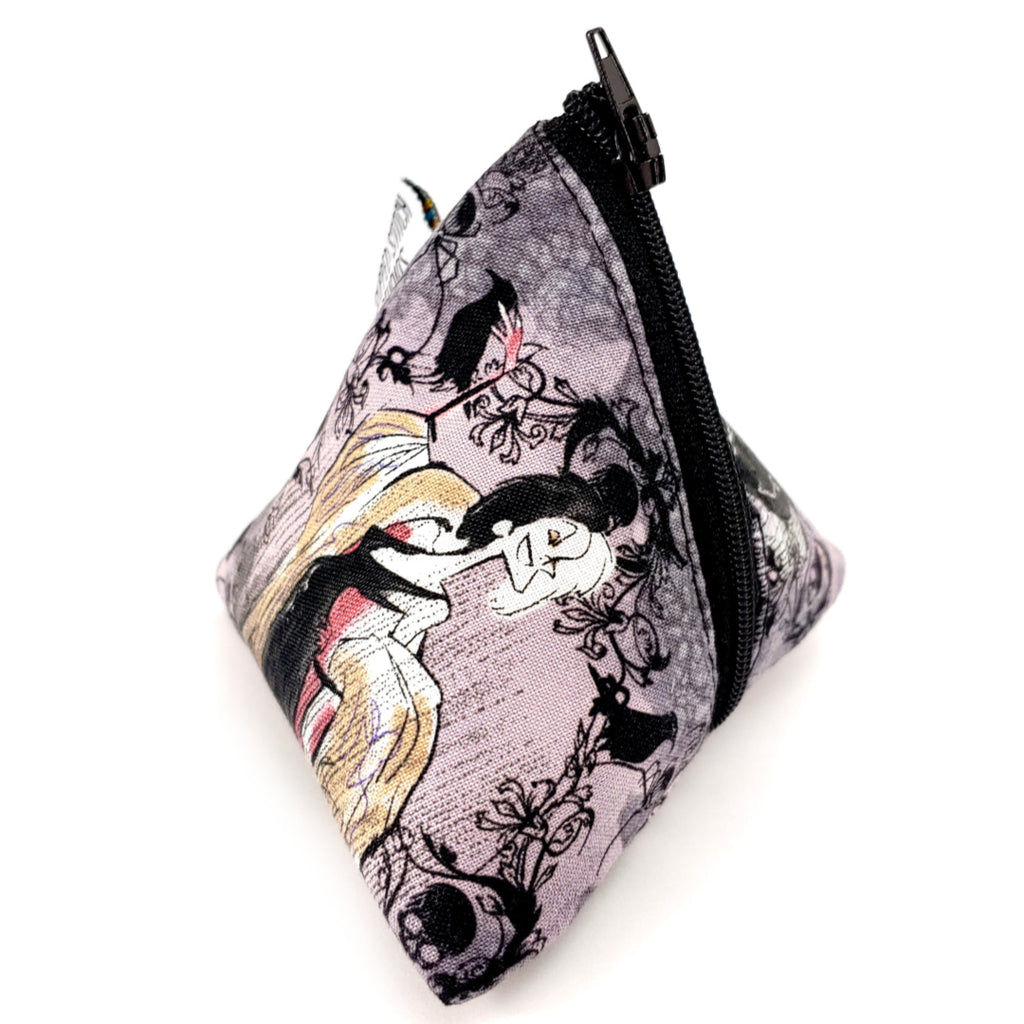Cruella </br> Triangle Zipper Notion Pouch:Triangle Zipper Notion Pouch,Slipped Stitch Studios:Slipped Stitch Studios
