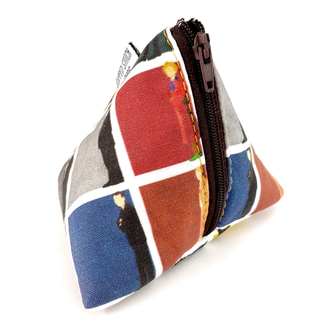 The Doctors </br> Triangle Zipper Notion Pouch:Triangle Zipper Notion Pouch,Slipped Stitch Studios:Slipped Stitch Studios