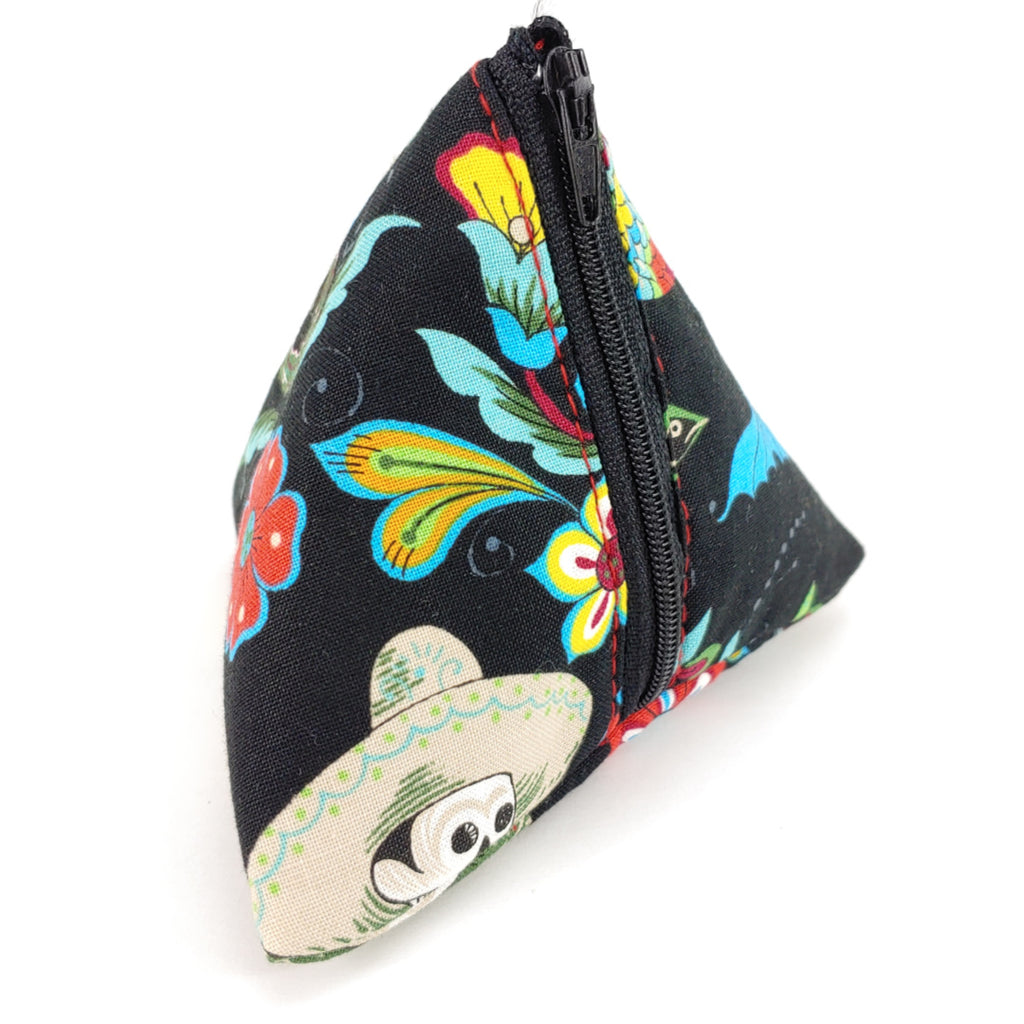 Esqueletos del Mar </br> Triangle Zipper Notion Pouch:Triangle Zipper Notion Pouch,Slipped Stitch Studios:Slipped Stitch Studios