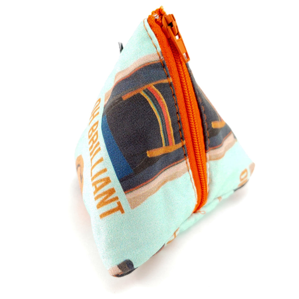Oh Brilliant </br> Triangle Zipper Notion Pouch:Triangle Zipper Notion Pouch,Slipped Stitch Studios:Slipped Stitch Studios