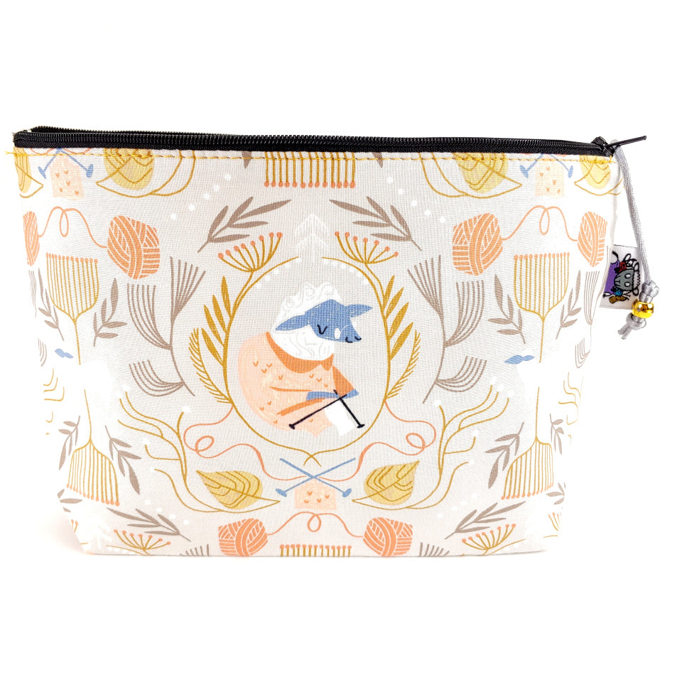 Sheepish Folklore </br> Zipper Notion Pouch:Zipper Notion Pouch,Slipped Stitch Studios:Slipped Stitch Studios