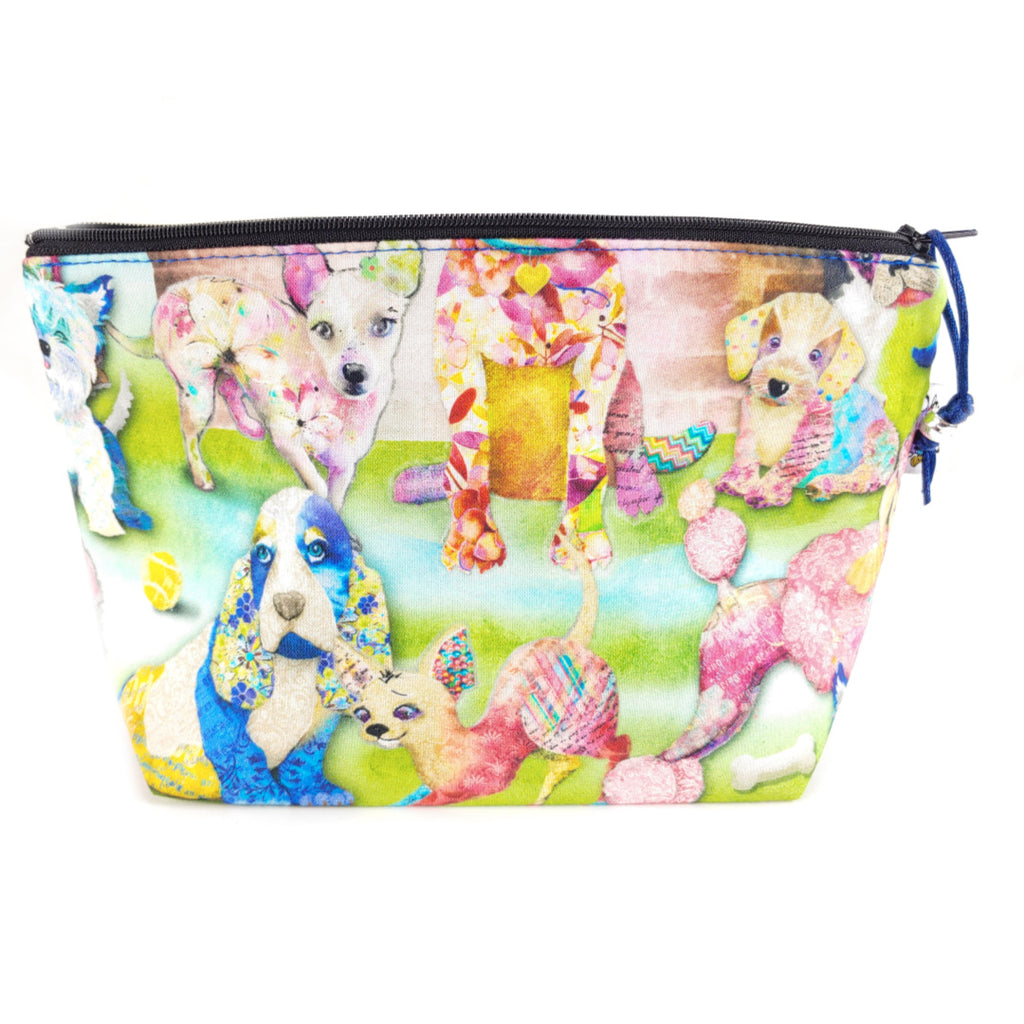 Patchwork Pups </br> Zipper Notion Pouch:Zipper Notion Pouch,Slipped Stitch Studios:Slipped Stitch Studios