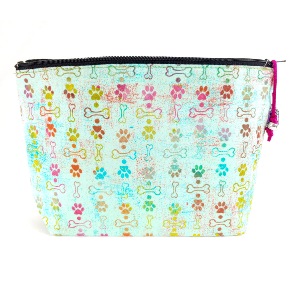 Puppy Love </br> Zipper Notion Pouch:Zipper Notion Pouch,Slipped Stitch Studios:Slipped Stitch Studios
