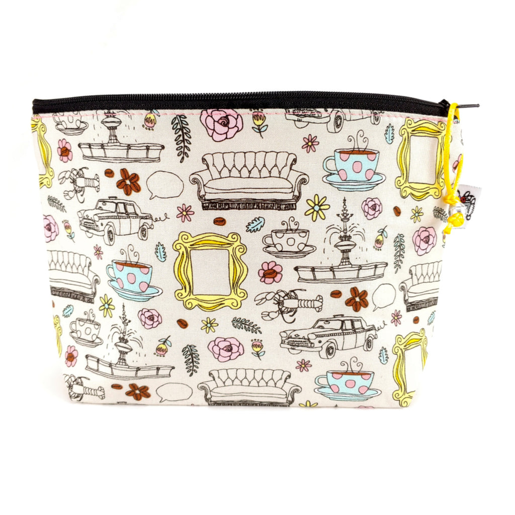 Friends </br> Zipper Notion Pouch:Zipper Notion Pouch,Slipped Stitch Studios:Slipped Stitch Studios