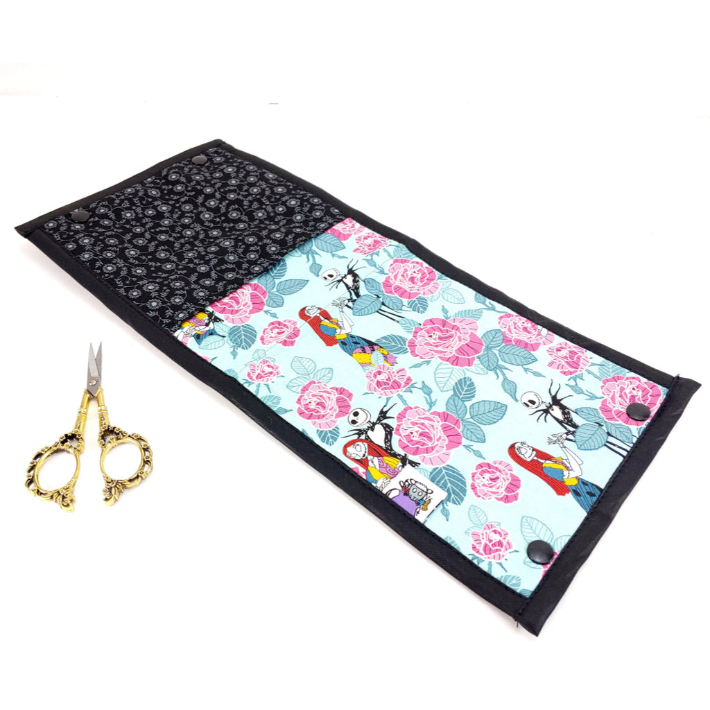 Jack and Sally Roses </br> Needle & Hook Organizer:Needle and Hook Organization,Slipped Stitch Studios:Slipped Stitch Studios
