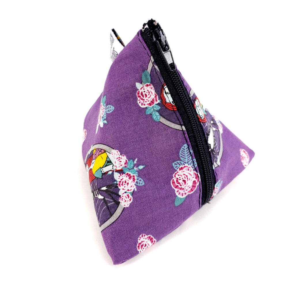 Jack and Sally Cameo </br> Triangle Zipper Notion Pouch:Triangle Zipper Notion Pouch,Slipped Stitch Studios:Slipped Stitch Studios