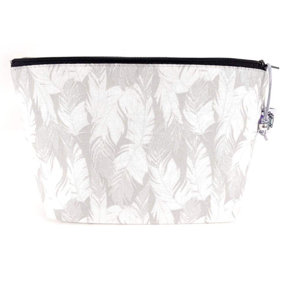 Feathers </br> Zipper Notion Pouch:Zipper Notion Pouch,Slipped Stitch Studios:Slipped Stitch Studios