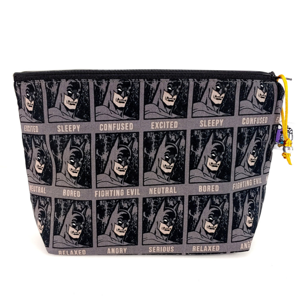 Batman </br> Zipper Notion Pouch:Zipper Notion Pouch,Slipped Stitch Studios:Slipped Stitch Studios