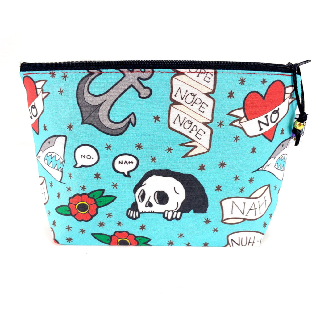 How About No </br> Zipper Notion Pouch:Zipper Notion Pouch,Slipped Stitch Studios:Slipped Stitch Studios
