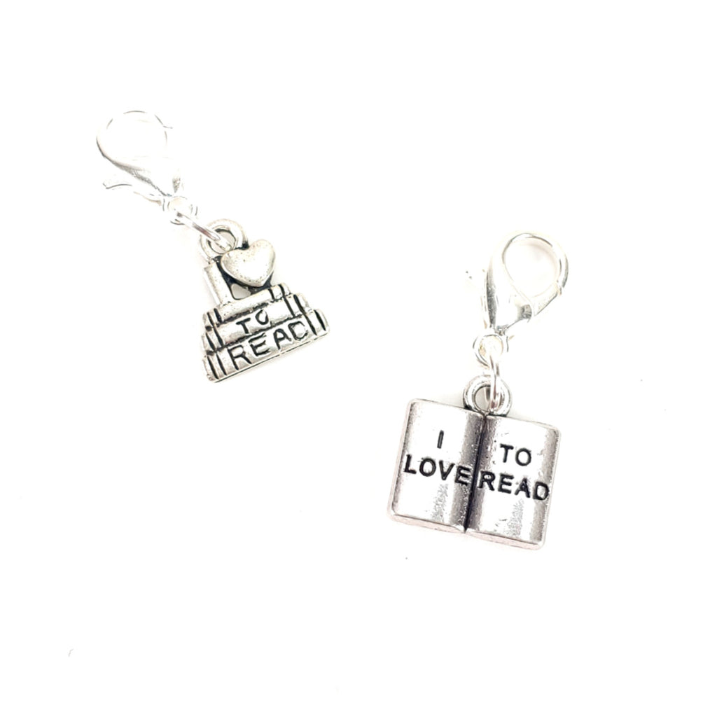 I (Heart) to Read or I Love to Read </br> Stitch Marker (Single):Stitch Markers,Slipped Stitch Studios:Slipped Stitch Studios