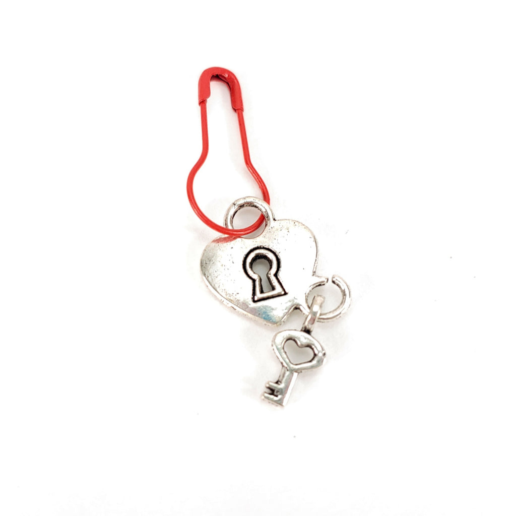 Key to my Heart </br> Stitch Marker (Single):Stitch Markers,Slipped Stitch Studios:Slipped Stitch Studios