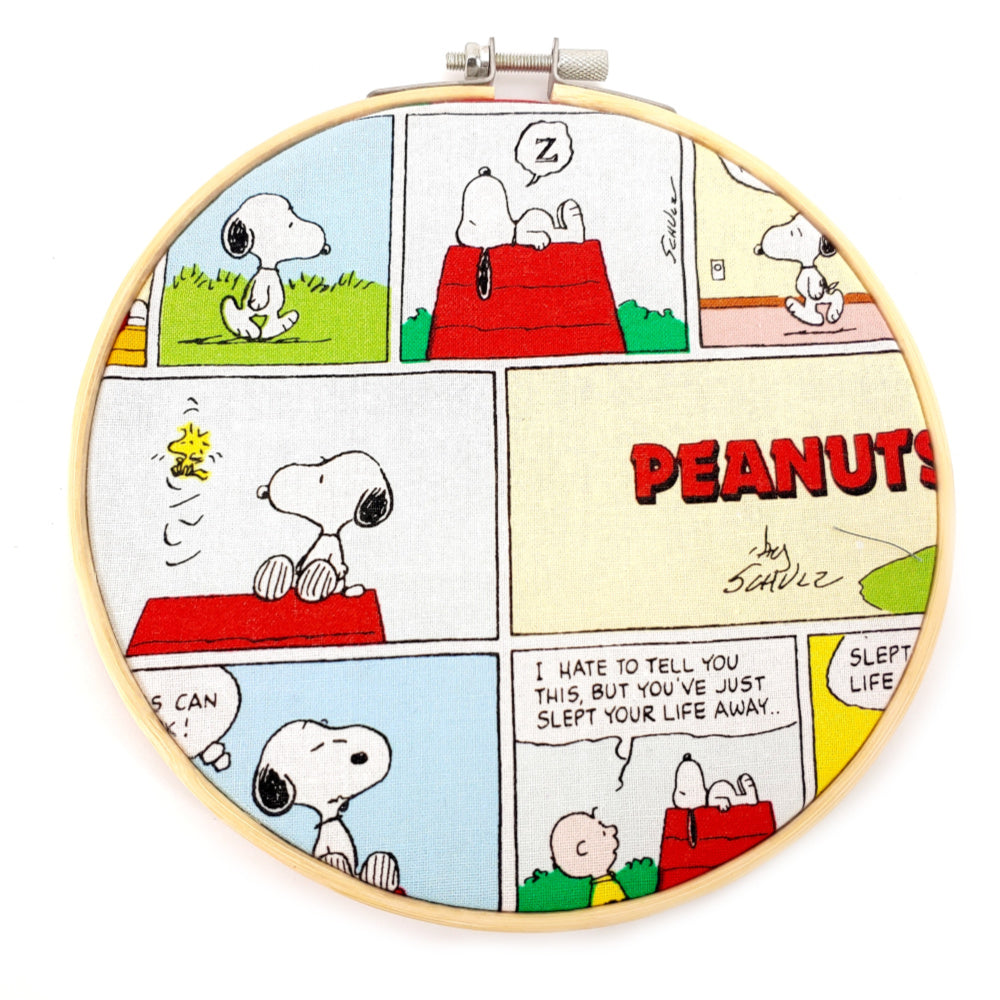 "Peanuts </br> Embroidery Hoop Art - 6"" diameter:Fabric,Slipped Stitch Studios:Slipped Stitch Studios"