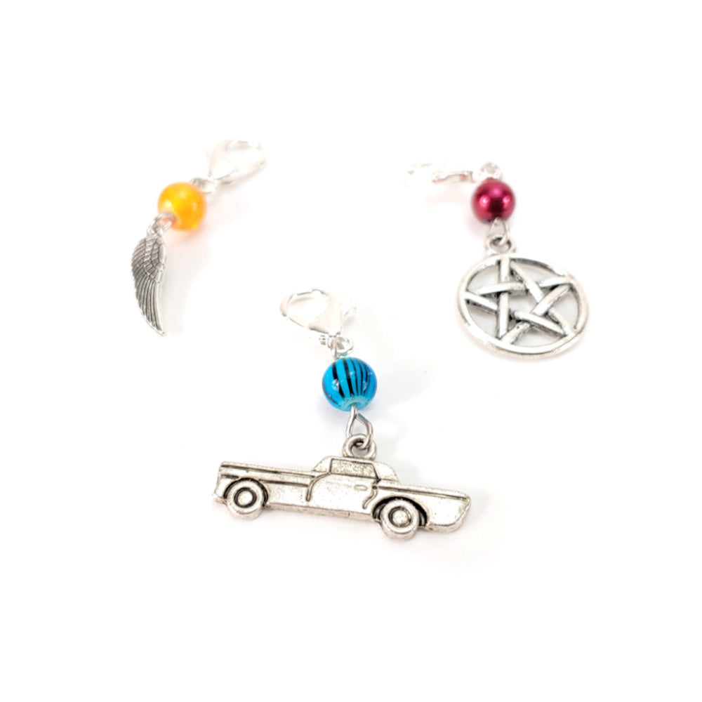 Wing, Pentagram, or Impala </br> Stitch Marker (Single):Stitch Markers,Slipped Stitch Studios:Slipped Stitch Studios
