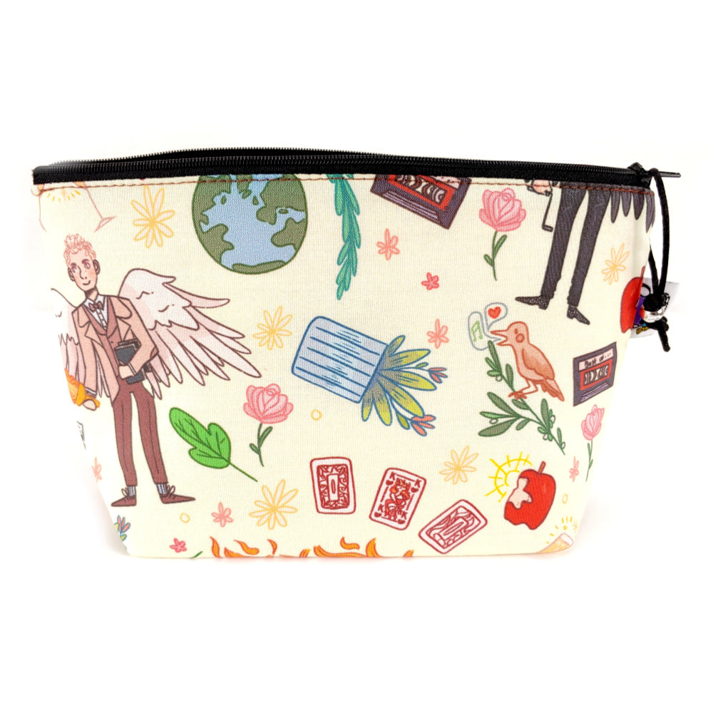 Good Omens </br> Zipper Notion Pouch:Zipper Notion Pouch,Slipped Stitch Studios:Slipped Stitch Studios