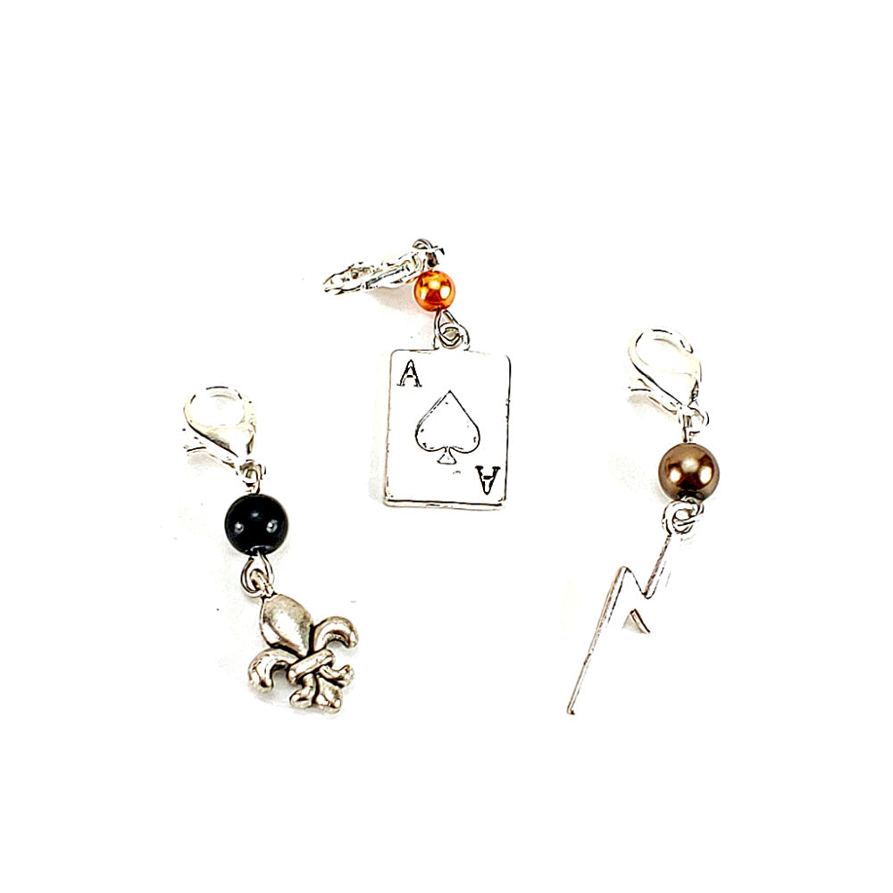 Good Omens, Firefly, and Set of 3 </br> Stitch Marker (Single):Stitch Markers,Slipped Stitch Studios:Slipped Stitch Studios
