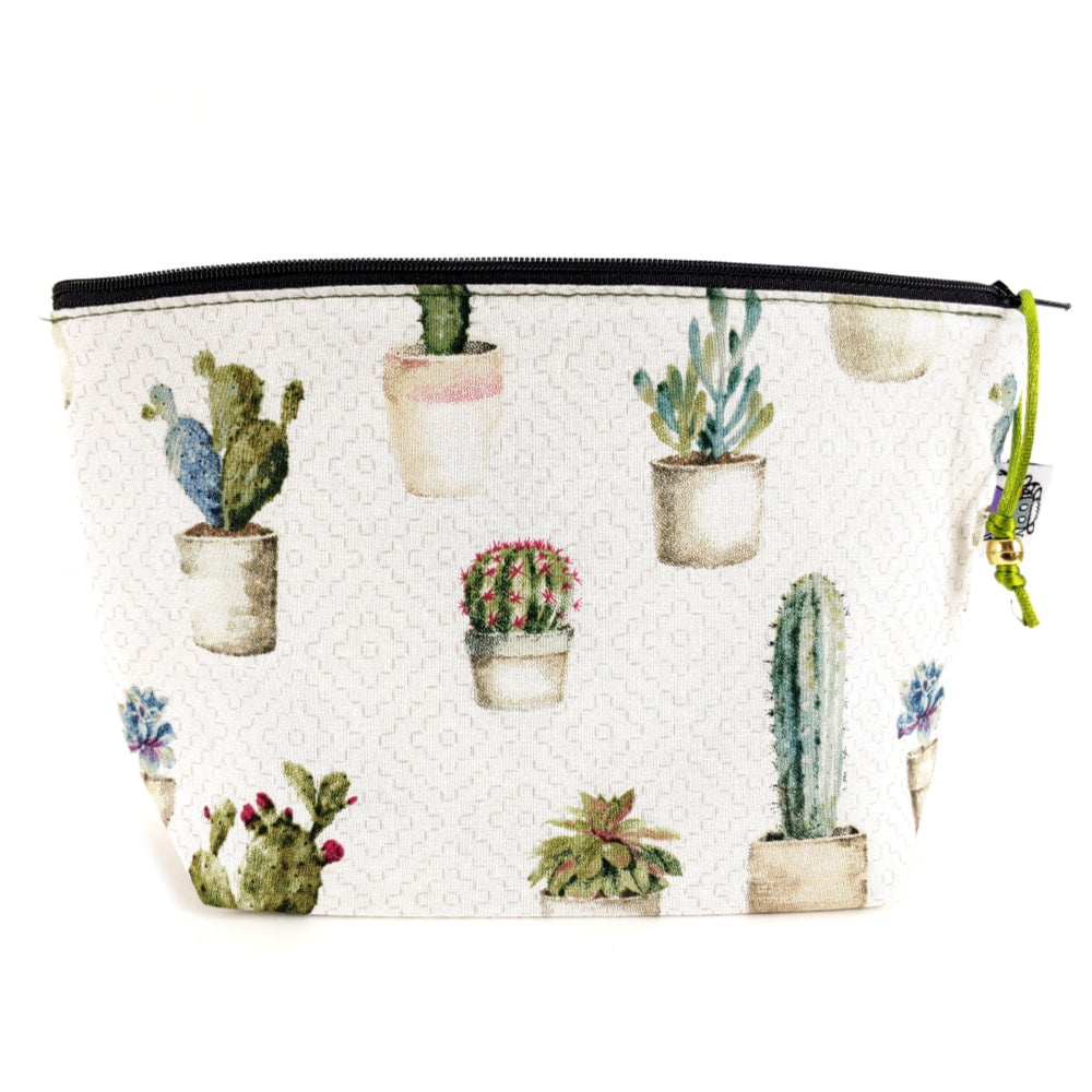 Painted Cactus </br> Zipper Notion Pouch:Zipper Notion Pouch,Slipped Stitch Studios:Slipped Stitch Studios