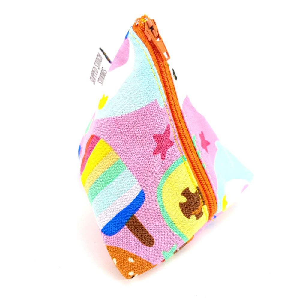 Too Much Cuteness </br> Triangle Zipper Notion Pouch:Triangle Zipper Notion Pouch,Slipped Stitch Studios:Slipped Stitch Studios