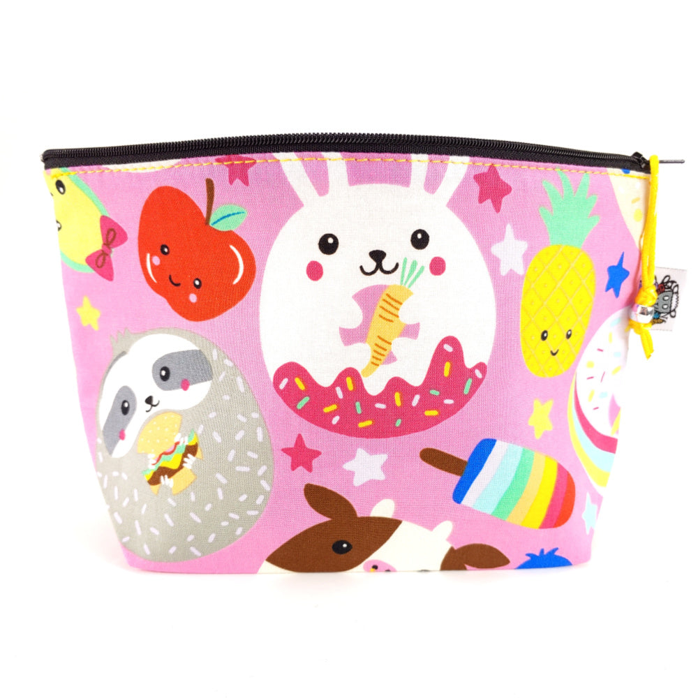 Too Much Cuteness </br> Zipper Notion Pouch:Zipper Notion Pouch,Slipped Stitch Studios:Slipped Stitch Studios
