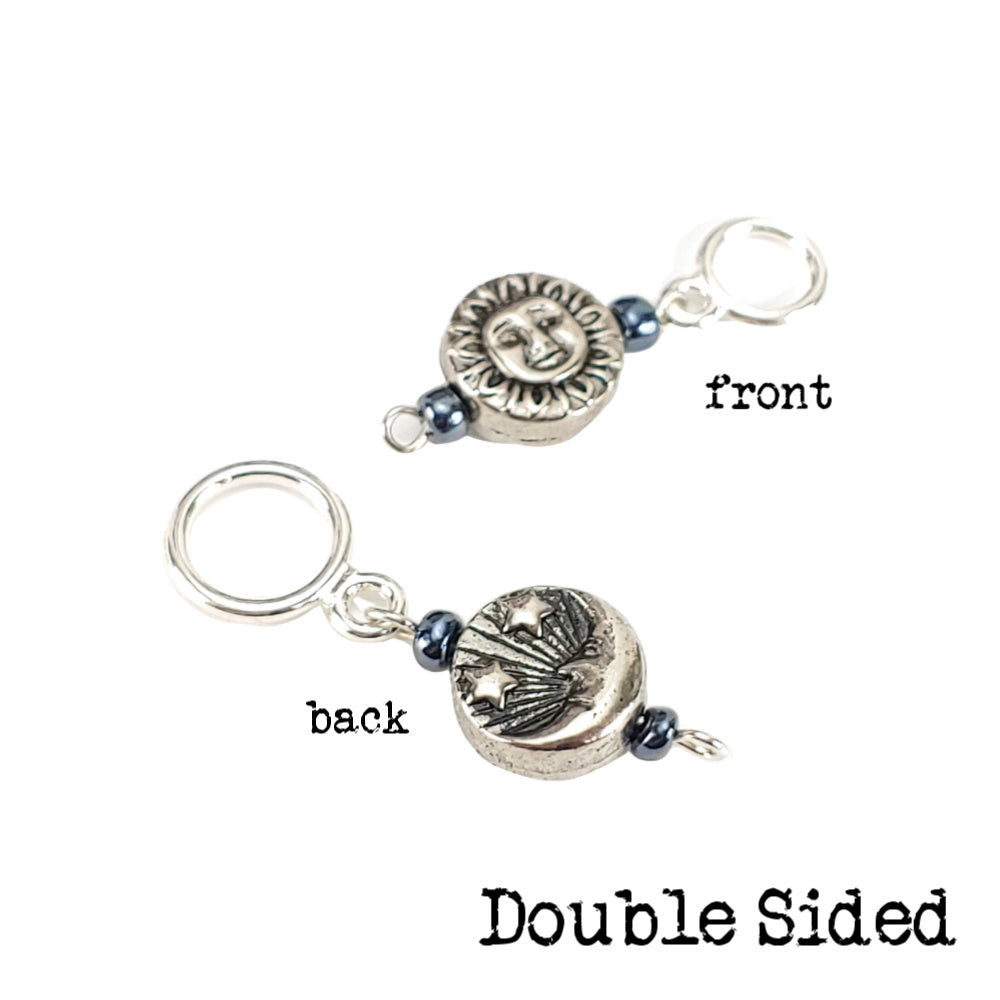 Going Through a Phase </br> Stitch Marker (Single):Stitch Markers,Slipped Stitch Studios:Slipped Stitch Studios